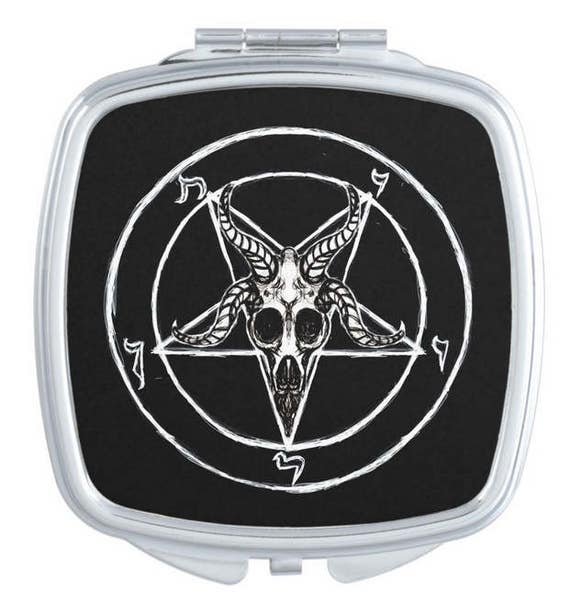 Sigil of Baphomet Mirror Compact