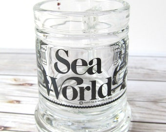 VINTAGE - 1980 Sea World Shot Glass - San Diego, California