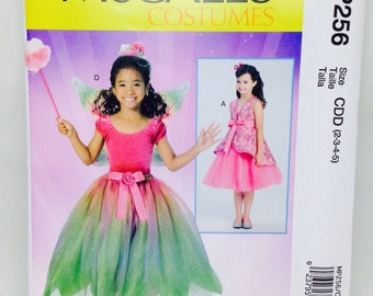 Uncut, Girls Size 2 3 4 5, McCalls Costumes Sewing Pattern MP256, Formal Dress, Wedding, Flower Girl, Story Book Character, Fairy, Pixie