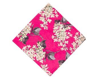 Pomp & Ceremony Pocket Square Liberty of London Archive hot pink