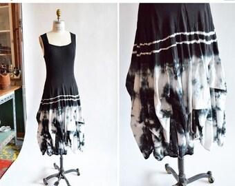 30% OFF storewide // Vintage 1980s tie dye PARACHUTE dress
