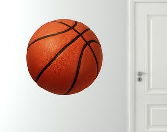 Basketball Wall Decal, Reusable Basketball Decal, Fabric Wall Decals, Basketball Decal, Basketball Wall Graphic, Removable Reusable Decals
