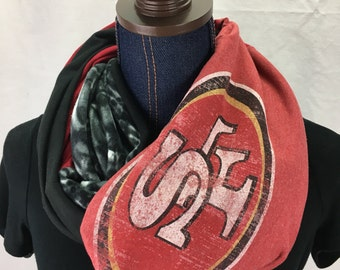 San Francisco 49ers Recycled T Shirt Infinity Scarf