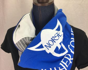 Luther College Recycled T Shirt Infinity Scarf