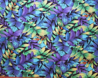fabric by the yard - CALLIOPE multi Leaves - Legacy Studio CP24928 - 44 inches wide