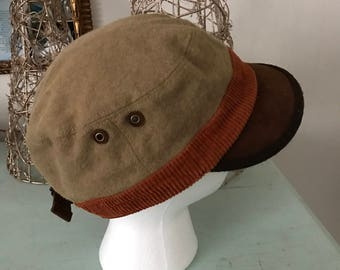 Vintage Grace Hats Newsboy Cap Messenger Hat Brown Rust Wool Blend Classic Warm Winter Fashion Cotton Lined Gifts Under 30 Fall Autumn