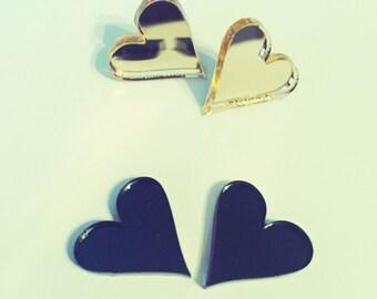 Mirrored Heart Earrings