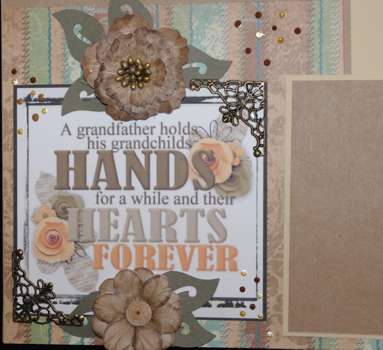 Scrapbook ideas grandma - Grandma And Grandpa 2 12x12 Premade Scrapbook Layouts