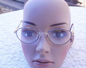 SALE-Vintage  Gold Wire Frame Women's Eye Glasses-Paris Genevieve Lavender-Retired