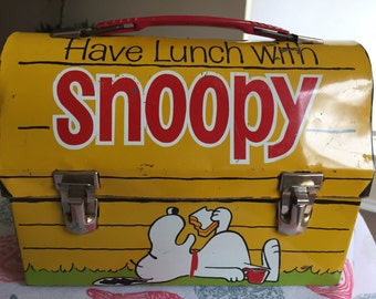 1968 Snoopy Lunchbox (no Thermos)