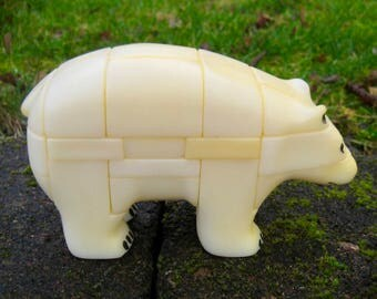 Vintage Polar Bear 3D Nanook USA ANIPUZZLE 1986 Discontinued Collectible Display