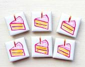 Cake Magnet, Fridge Magnet, Stationary Magnets, Gift for Teacher