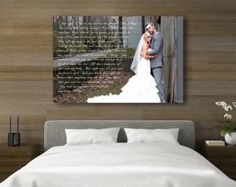 wedding lyrics canvas wedding artwork on canvas 30x40