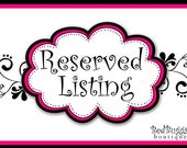 Reserved listing for Shannon Brodhacker