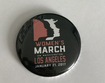 """Women's March Los Angeles pin 1 1/2"""""""