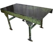 ON SALE Industrial Steel Worktable with Adjustable Legs