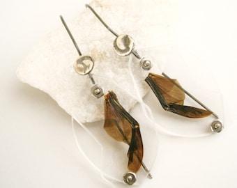 Fig Beetle Wing Specimen Earrings