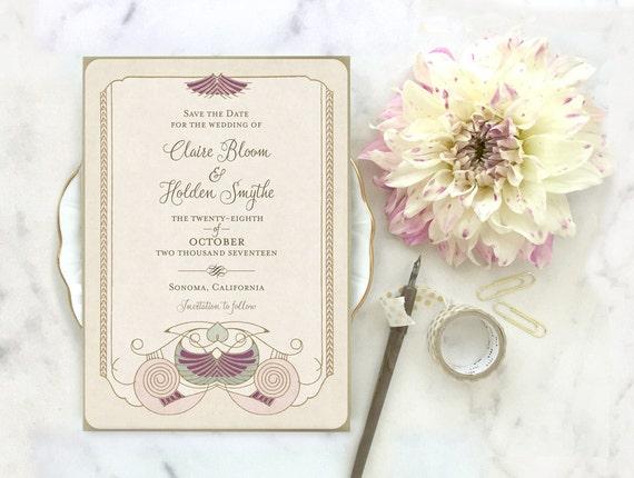 Artist Wedding Invitations: Wedding Invitations Wedding Invitation Set Art Deco Wedding