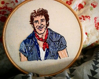 Bruce Springsteen embroidery piece!