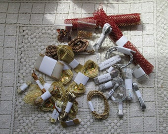 Golden and Silver Grab bag of sewing notions (USA) Haberdashery (UK)