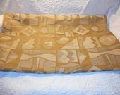 "Upholstery Fabric Tan Geometric/Abstract Print-Raised Finish-1 Piece 41"" x 54""-Heavy Fabric"