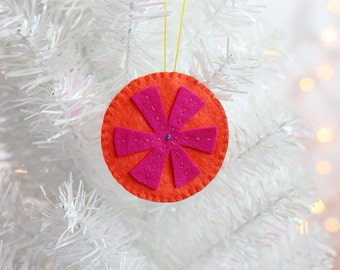 Handmade Snowflake Ornament, Christmas Tree Ornament, Modern Christmas Decorations, Nontraditional, ready to ship, cyber monday