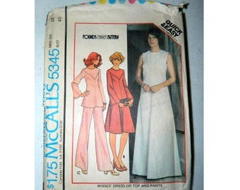 McCall's Pattern 5345 - Vintage Dress, Top and Pants Pattern - Uncut - Size 18