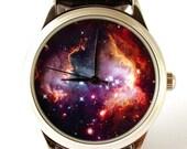 25% OFF ON SALE Watch space picture Nebula Hubble space photo, unisex watch, women watch, men wrist watch