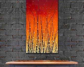 Modern Art Print, Modern Contemporary Art Print, Nature Art, Landscape Art, Large Wall Art, Vibrant Colors Nature Painting by Justin Strom