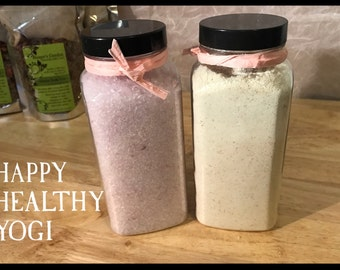 Rose Scented Bathing Salt Soak- Skin Detox - Bath Tub Salt Soak - Aromatherapy - Bath & Body - Lavender - Relaxing - Rose Geranium - Bridal