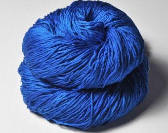 Shattered cobalt glass - Silk Fingering Yarn