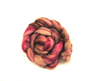 POSE Hand-Dyed Polwarth/Silk Combed Top/Roving-4 ounces