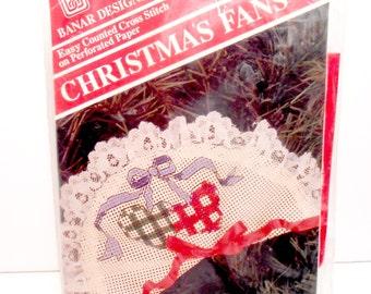 Counted Cross Stitch, Christmas Fans, Christmas Decoration, Christmas DIY Kit