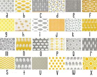 Yellow and Grey Custom Crib Bedding--YOU DESIGN, I CREATE
