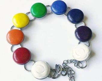 Rainbow, chain bracelet