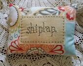 Prim Stitchery shiplap Pillow ~ OFG