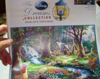 Disney Dream Collection Snow White Discovers the Cottage by Thomas Kinkade.