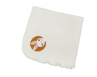 Organic baby blanket, bio cotton swaddle blanket, eco-friendly stroller blanket, organic cotton baby shower gift, bio cotton newborn gift