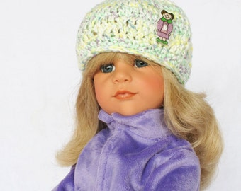 Hand Crocheted  18 Inch American Doll Cap Hat