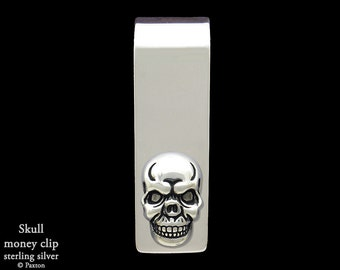 Skull Money Clip in Sterling Silver