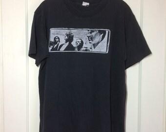 Vintage 1987 R.E.M. Work Tour T-shirt looks size Large 21x25 Black soft cotton REM 1980's