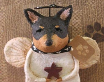 Chihuahua Angel, OOAK, handmade from paper mache, Chihuahua Angel Figurine