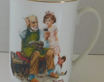 Norman Rockwell The Cobbler coffee cup/mug