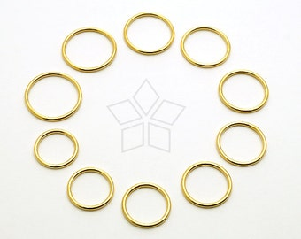SV-163-GD / 1 Pcs - Plain Silver Ring, Stacking Ring, Knuckle Ring, Five Finger Rings, Gold Plated over 925 Sterling Silver / 1.5mm