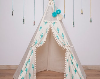 Childrens tents, children indoor tipi with poles: 5 pole kids outdoor playtent, play tent, tipi, teepee, tepee, wigwam, indian tent