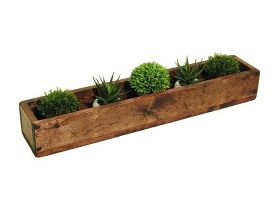 long wooden box table centerpiece wooden mantle decor candle