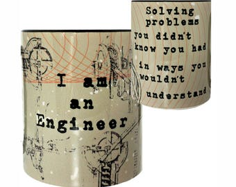 Engineer Funny Black Mug by Pithitude