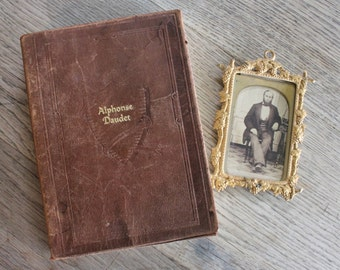 The Works of Alphonse Daudet Antique Soft Leather Book One Volume Edition 1929
