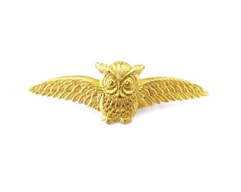 Owl Barrette Bird Hair Clip Forest Animal Garden Nature Inspired Gold Rustic Woodland Wedding Accessories Boho Girls Womens Gift For Her