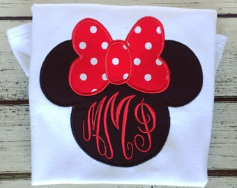 Minnie Shirt with Name or Monogram